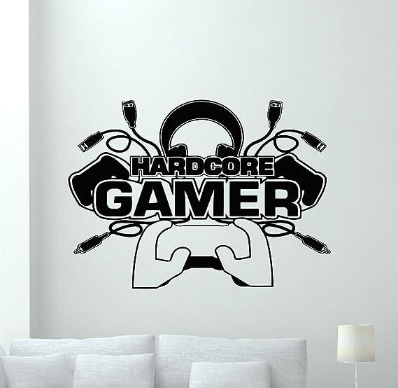 Gamer World Extra/íble para Net Bar Salas de Estar Dormitorio Sala de Juegos y Paredes de Ni/ños Decoraci/ón de Fondo Adhesivos de Pared de Videojuegos Adhesivo de Pared Gamer Boy