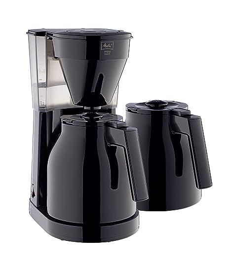Melitta Cafetera de Goteo Therm II Isotérmica, Función Easy Click, 1L de Capacidad, con Segunda Jarra Térmica Negra, 1023-06, 1050 W, 1 Liter, ...