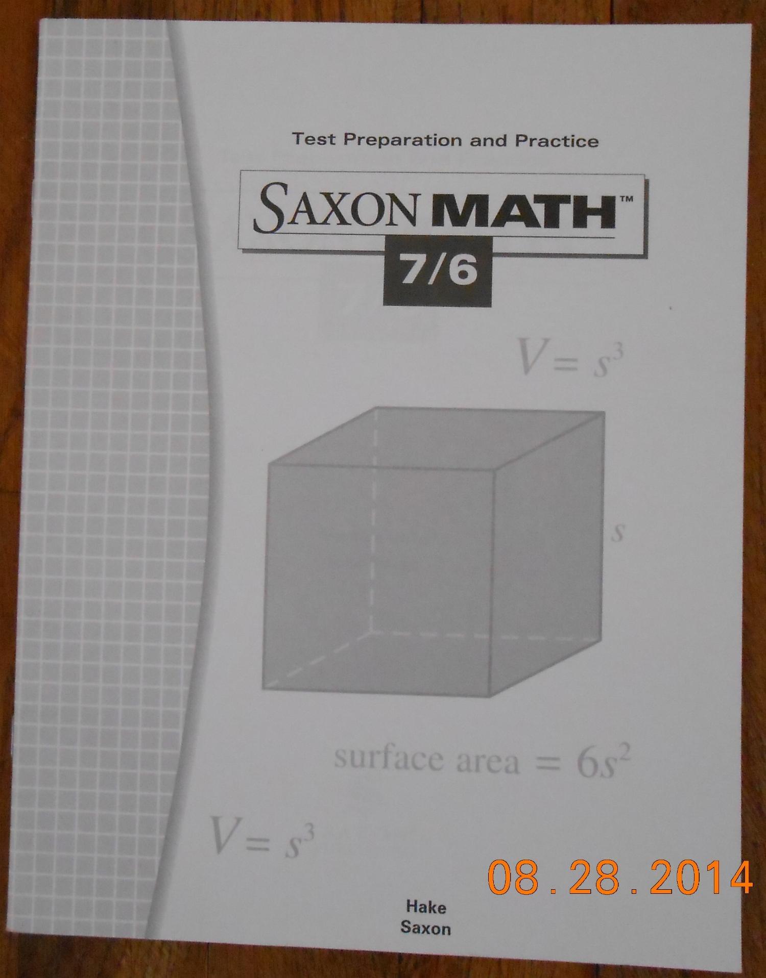 Saxon Math Test Preparation and Practice 7/6 (Saxon Math 7/6) pdf