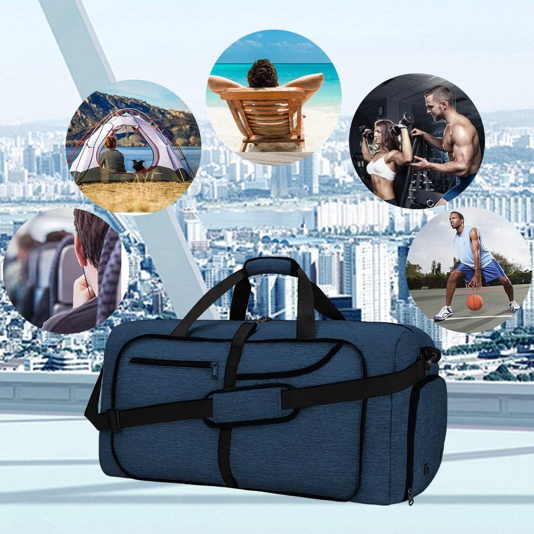 NEWHEY Borsone da Viaggio Pieghevole 65L Grande capacit/à Duffel Bag Travel Leggero Impermeabile Borsoni da Palestra per Campeggio Viaggio Palestra Sport Vacanza Borsa Uomo e Donna