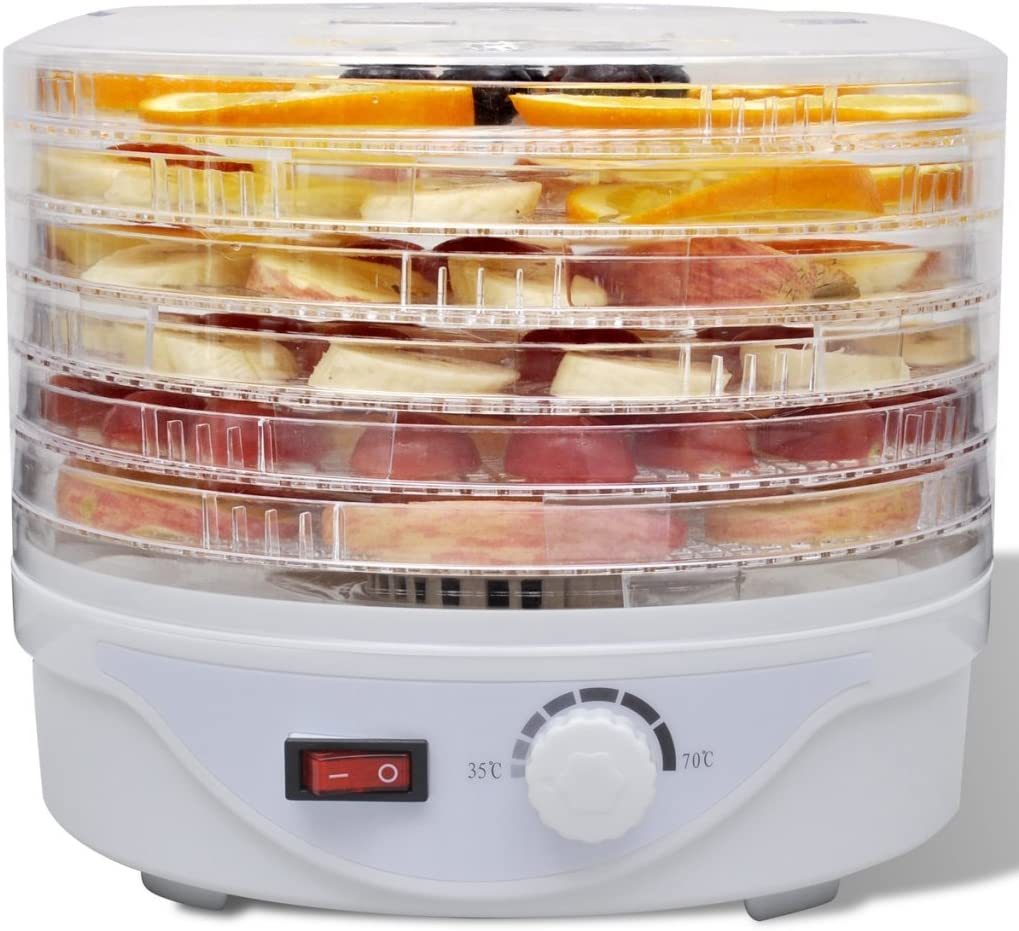 comprend 5/compartiments ajustables et un bouton pour r/égler la temp/érature Spice Teseko D/éshydrateur pour aliments de 35 /à 70/degr/és