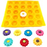 Flexible Molds - Daisy or Sunflower (25 cavity) - Cream Cheese Mint Molds - Candy Melts - Fondant - Caramels - Soft Candy Mol