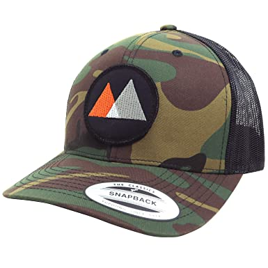 319a0a53c35f5 WUE Little Mountains Trucker Hat Outdoor Hats for Men (Camouflage ...