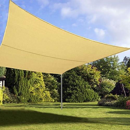 Quictent Rectangle 185GSM Oversized Sun Shade Sail Canopy 98 UV-Blocked