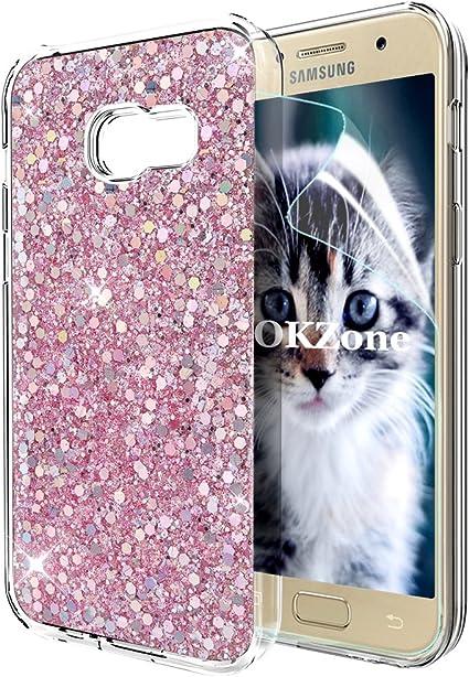 OKZone Funda Samsung Galaxy A5 2017, Cárcasa Brilla Glitter ...