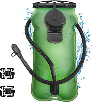 Kuyou Hidratación vejiga de Escalada, Paquete de Reservorio de Bolsa de Agua Plegable de Apertura Ancha de 2L (70 oz) con Tubo Ciclismo al Aire Libre, ...