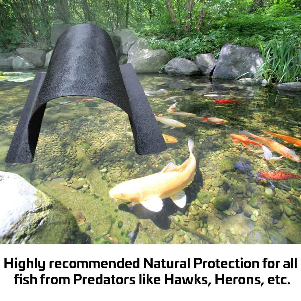 Fish Pond Tunnel Save Your Fish from Predators Blends Naturally into the Water Bottom Safe for All Plants and Animals Economical Highly Recommended Natural Protection 13 Long X 7 Wide X 6 High