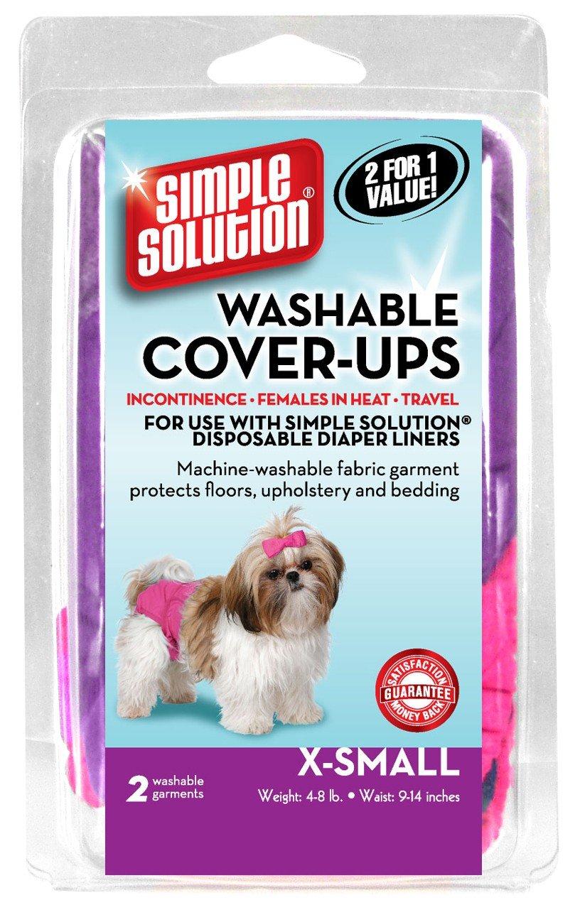Bramton empresa Simple Solution Lavable pañales cover-ups, XS,colores pueden variar, rosa/morado o azul/negro, 2 Pack: Amazon.es: Productos para mascotas