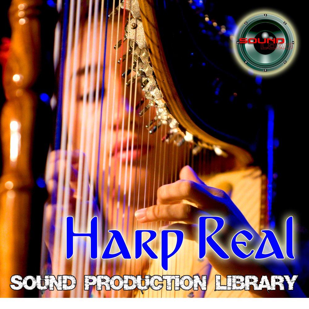 HARP REAL - Large Original Wave/Kontakt Multi-Layer Samples/Performances Studio Library on DVD or download; by SoundLoad
