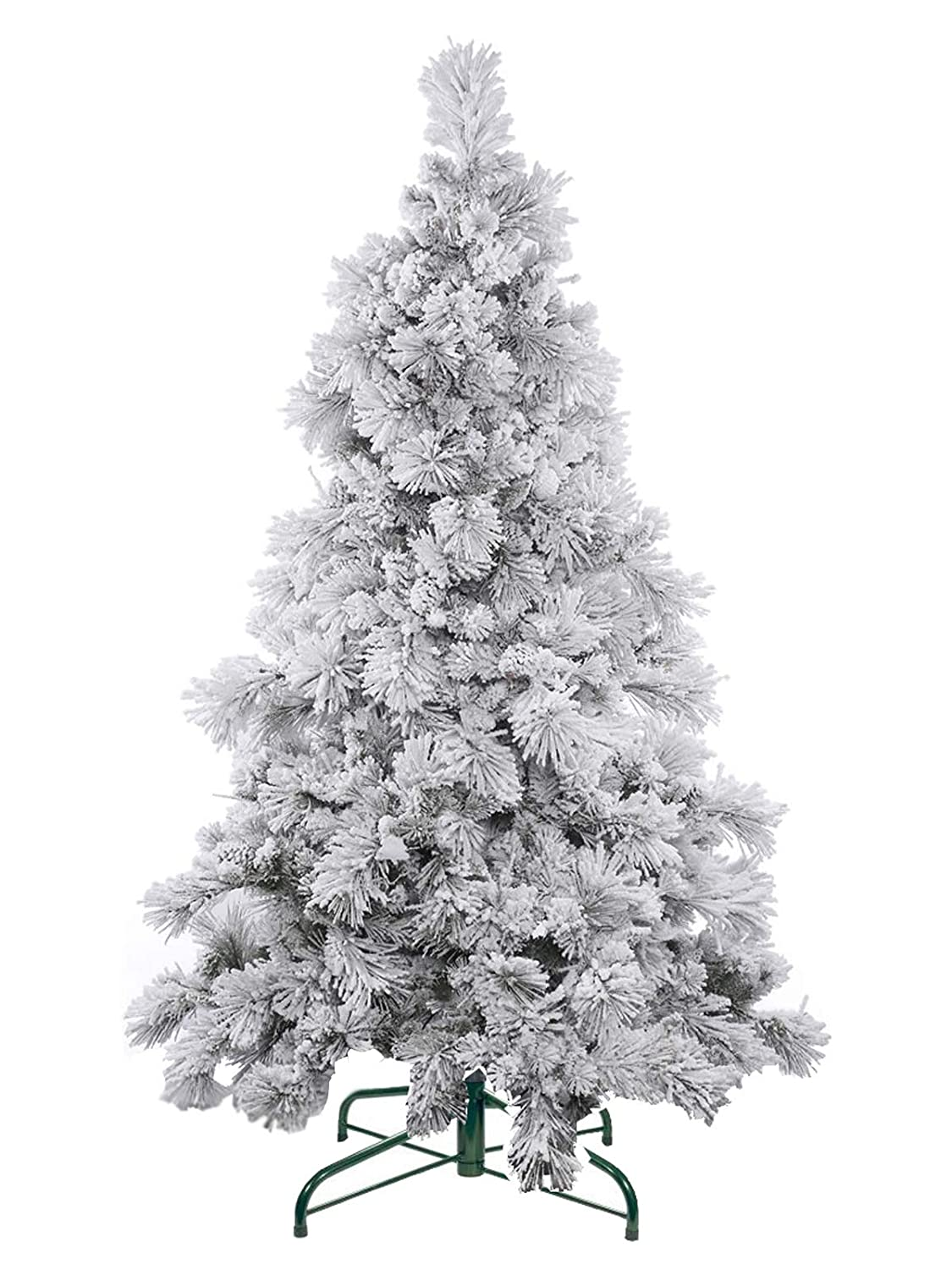 9b6d1726162 Evergreen Holiday Décor 6FT Flocked Artificial Christmas Tree - Unlit. 6   Flocked Snow Tree Metal Stand