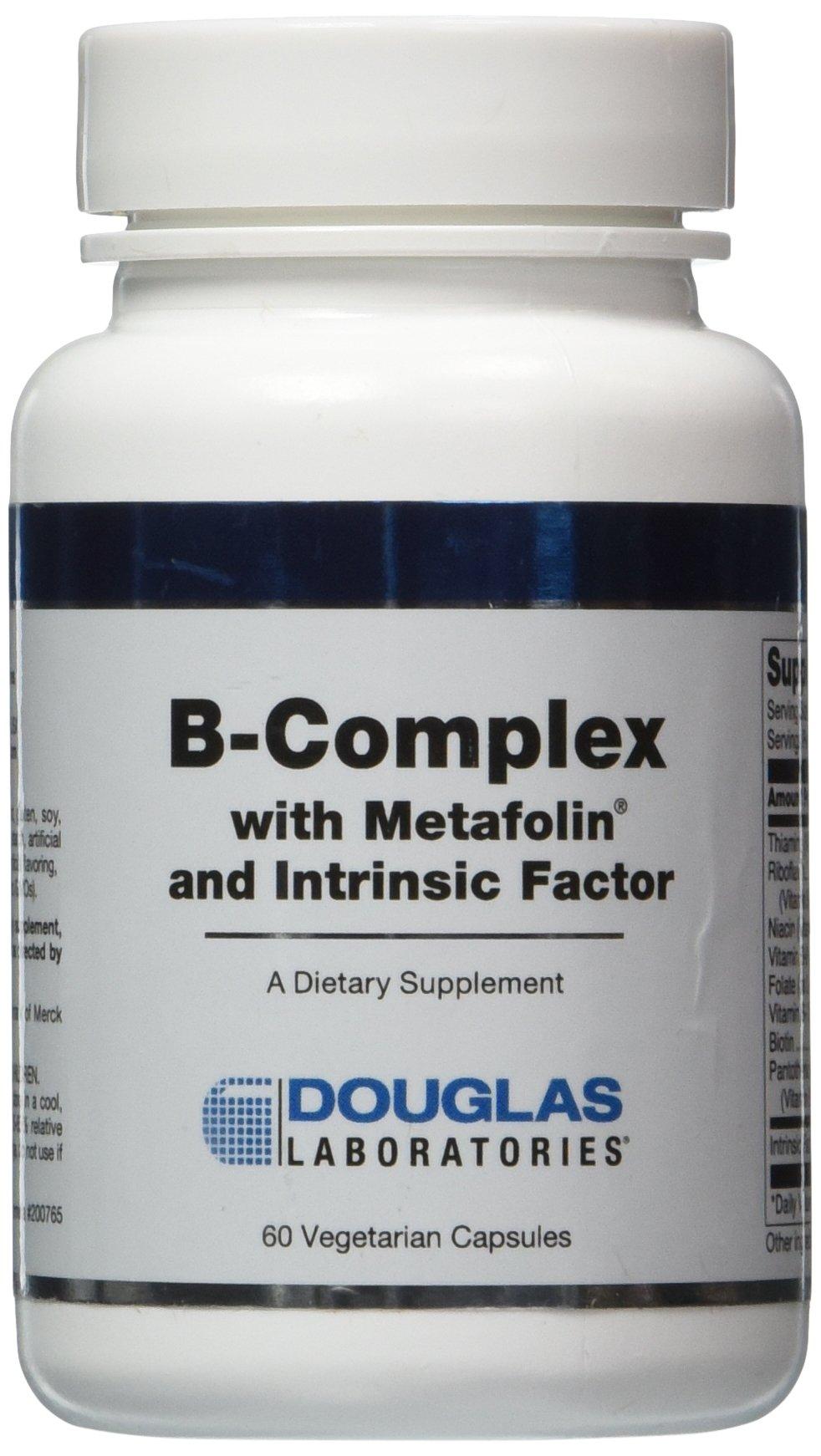 Douglas Labs - B-Complex w/ Metafolin, 60 Count Vegetarian Capsules (2 Pack)