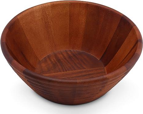 Bireegoo Ensaladera de madera natural con mango para ensalada de cocina