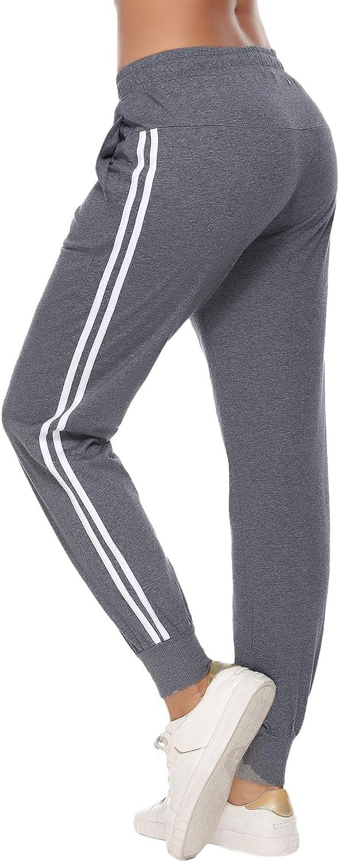 Hawiton Pantaloni Sportivi da Donna/&Uomo in Cotone 100/% con Tasche per Corsa Sport Pigiama Pantaloni Lunghi Casual per Donna/&Uomo