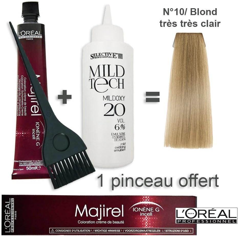 Kit de coloración para el cabello, 50 ml, Majirel, 10 / rubio ...