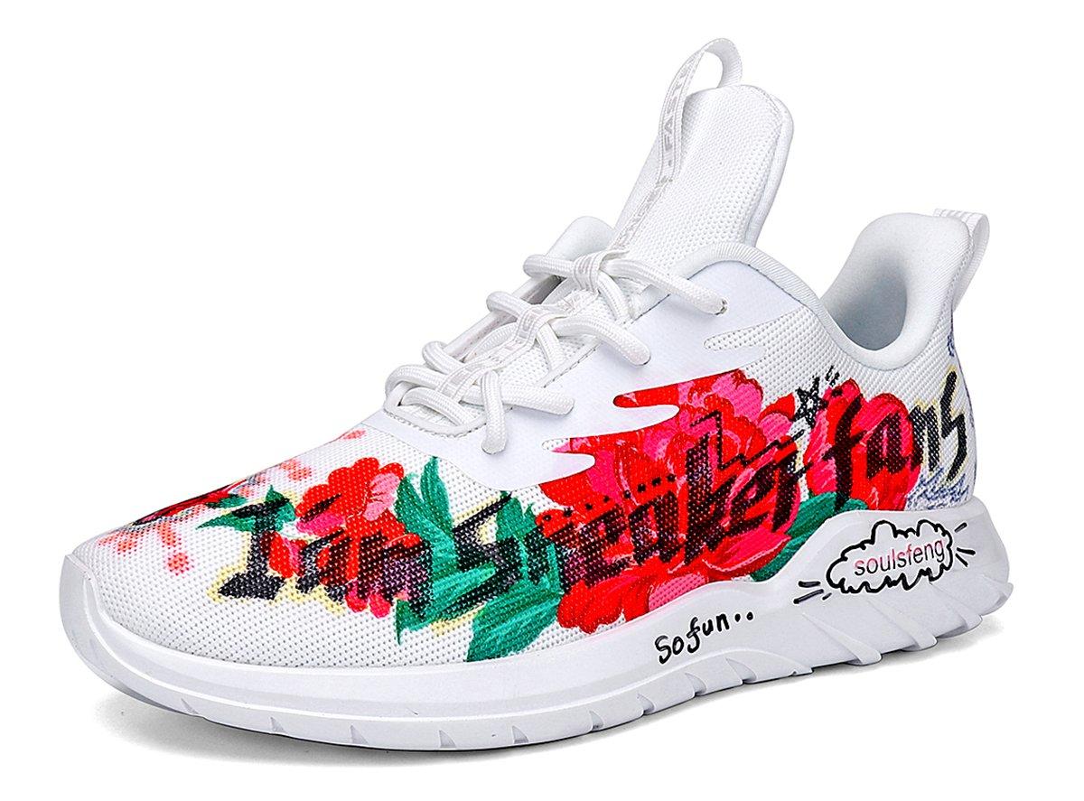 Running Shoes Men Women Sneakers Fashion Lightweight Breathable Mesh Gym Training Shoes, Traveling Sport Shoes. Black B0755BJHLK Men US9=EUR42.5=UK8=27CM|White