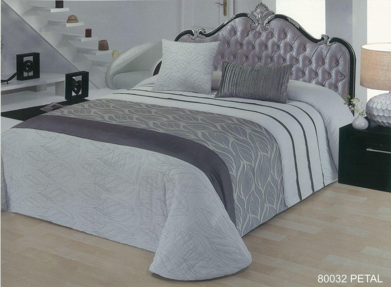 Atrivm Petal - Edredón y Fundas de cojin para cama de 150 cm, color gris