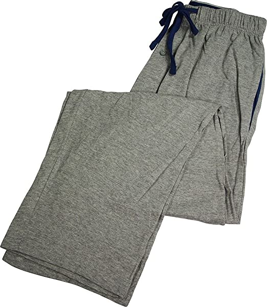 Hanes Hombres Cordón de Algodón de Dormir Pantalones de Pijama - Gris -
