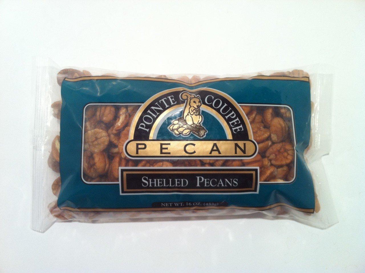 Pointe Coupee Pecan - 1 Lb. Bags Or Case Natural Shelled Pecan Halves