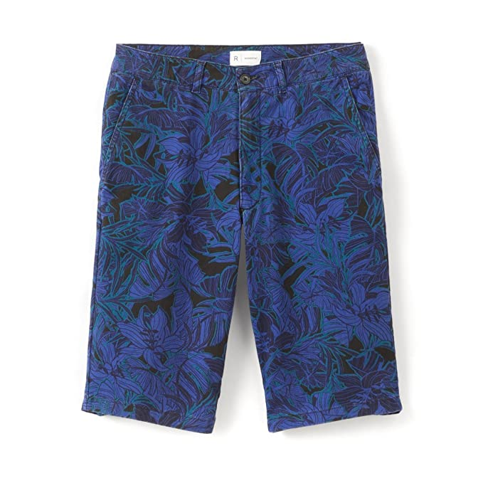 New La Redoute Collections Mens Printed Bermuda Shorts Blue Size US 29W FR 36