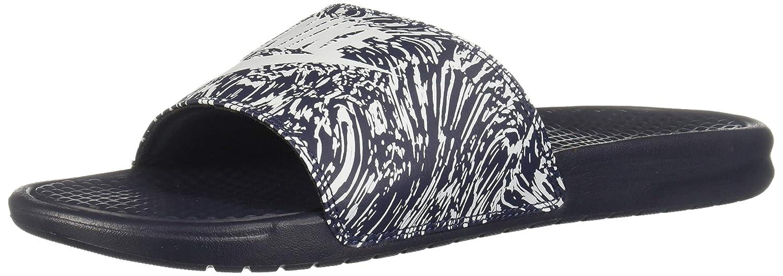 MultiCouleure (Obsidian Pure Platinum 403) 46 EU Nike Benassi JDI Print, Chaussures de Gymnastique Homme