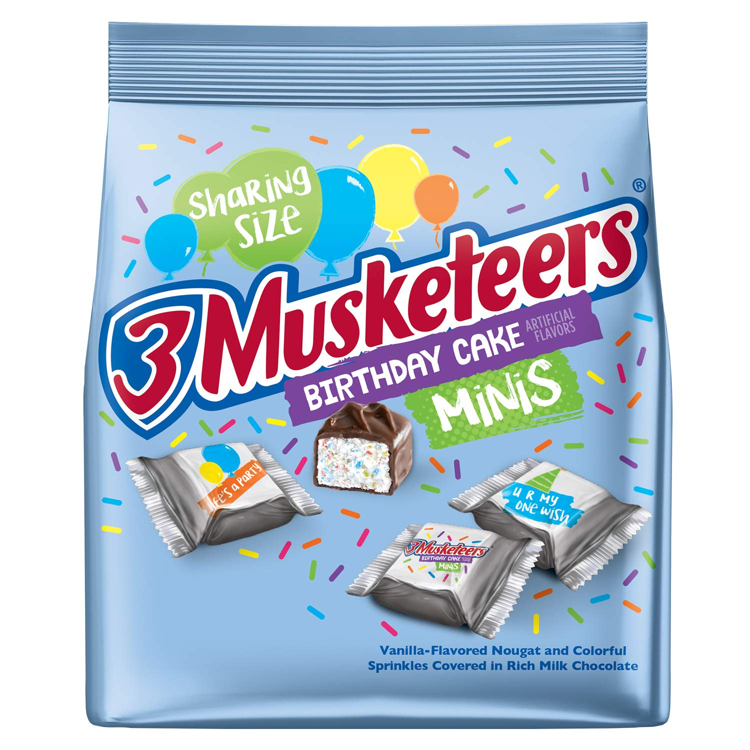 Amazon 3 Musketeers Birthday Cake Minis Size Chocolate Bars 84 Ounce Pack Of 8 Grocery Gourmet Food