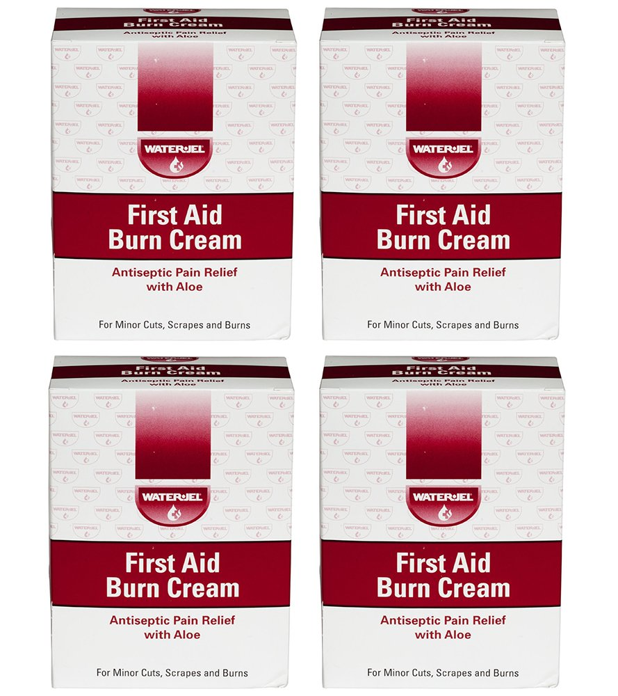 Waterjel 2692 First Aid Antiseptic Burn Cream SEHoC for Pain Relief, 0.9gm Packet 144 Count (4 Pack)