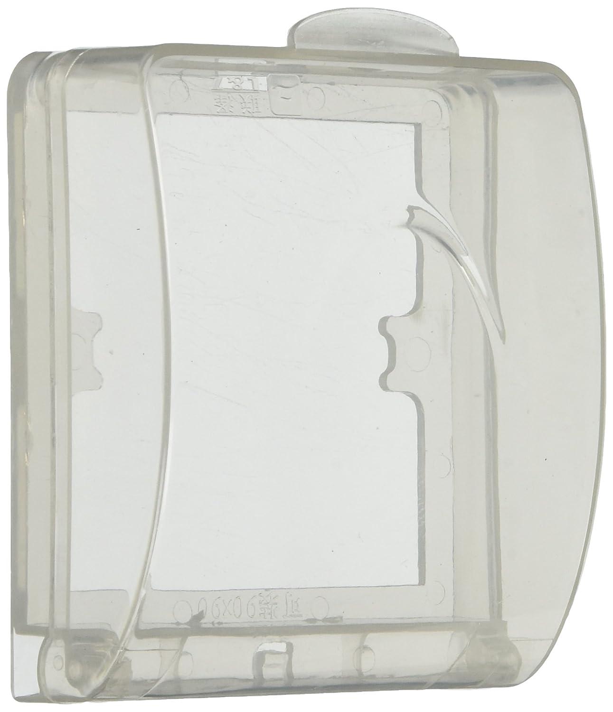 Bathroom Wall Switch Flip Cap Splash Proof Waterproof Cover Box Clear uxcell a14012000ux0591