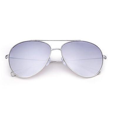Wenlenie Lunettes de soleil ovale aviateur unisexe, nuances pour femmes W3362