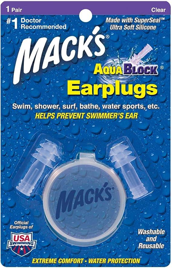 Wotek Ear Swimming 2 Pair Waterproof Reusable Silicone