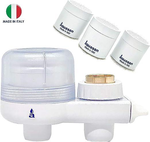 FILTRO DE AGUA Aquasan modelo compacto + 3 CARTUCHOS DE REEMPLAZO: Amazon.es: Hogar