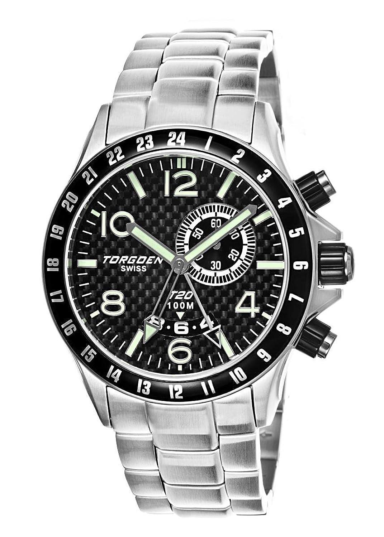 Torgoen Herren-Armbanduhr Analog Quarz Silber T20205