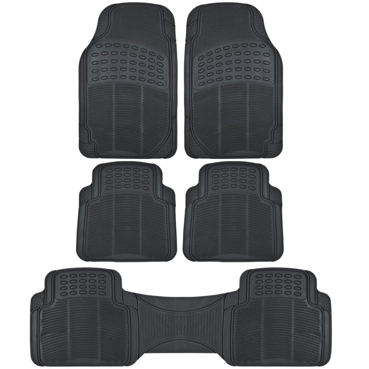 All Weather Black Vinyl Non-slip Trimmable Truck SUV Van Floor Mats 5 pcs
