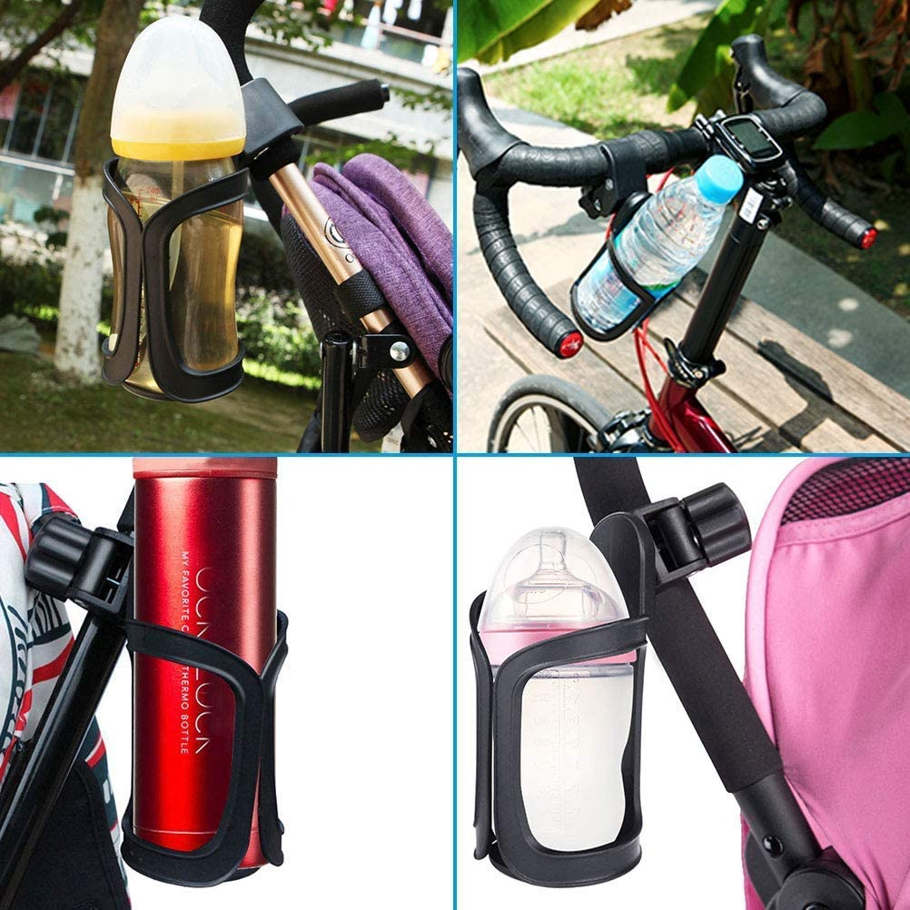 Stroller Drink Holders,Universal 360 Degrees Rotation Cycling Water Bottle Holder for Baby Stroller AIWEIYER Baby Carriage Cup Holder,Bike Cup Holder 2 Packs