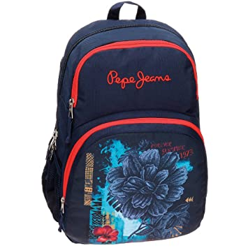 Pepe Jeans 64224A1 Mangrove Mochila Escolar, 23.94 Litros, Color Azul: Amazon.es: Equipaje