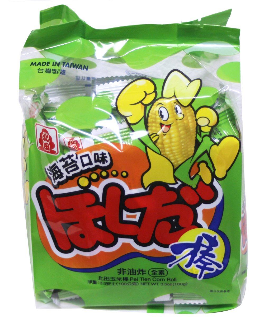 能量棒 All natural Pei Tien Energy Corn roll- Japanese Style Grilled Seaweed Flavor 3.5oz x 4pack