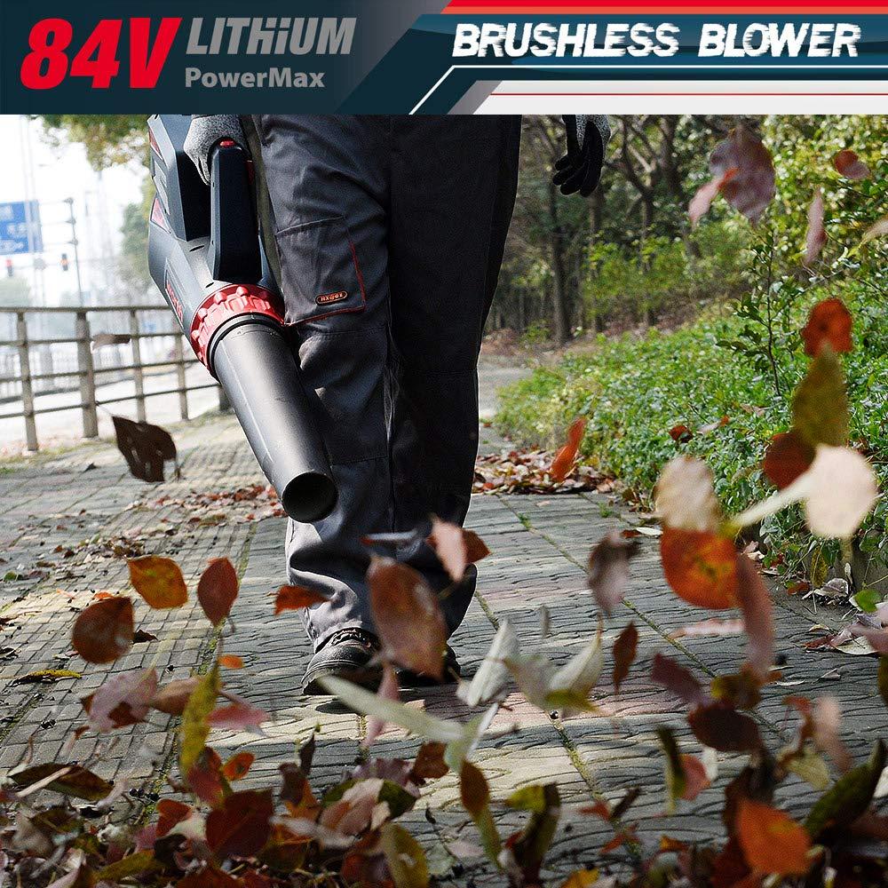 Worth Garden 84V Soffiatore di foglie con batteria al litio