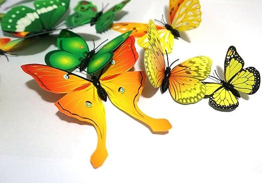 Amazon.com: 24 PCS PVC 3D Butterfly Fridge Magnets Refrigerator ...