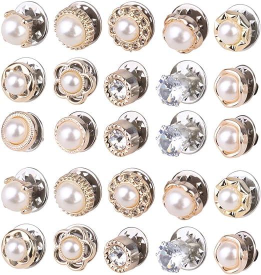 Healifty 40 Piezas Coser Botones a Presión Botones de Cristal de ...