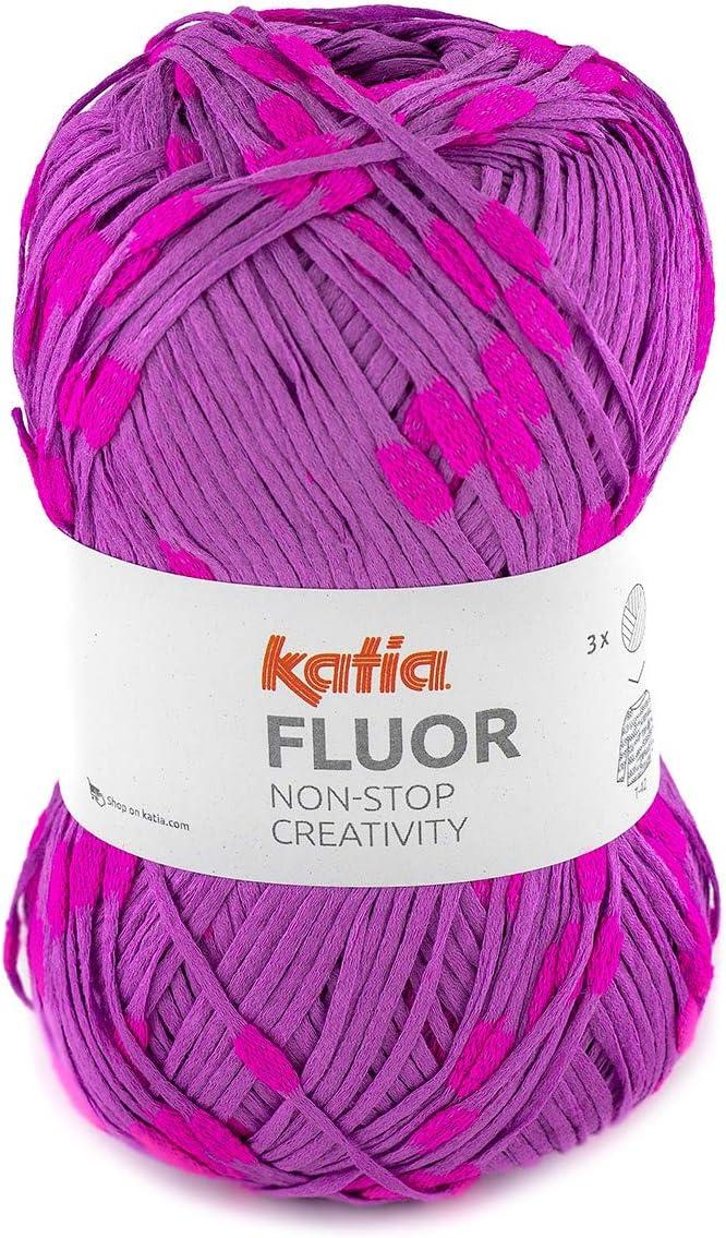 Sibylles Katia Fluor - Ovillo de Hilo de algodón (100 g), Color ...