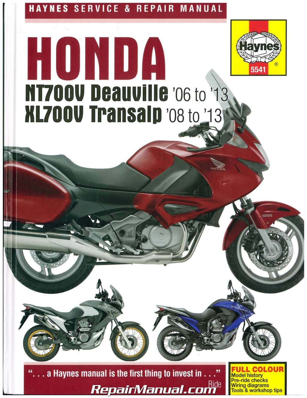 H5541 Honda NT700V Deauville & XL700 Transalp Repair Manual: Manufacturer:  Amazon.com: Books