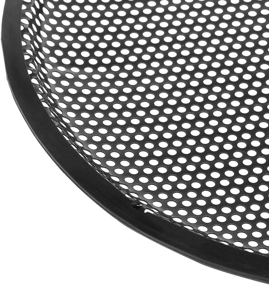certylu Electronique Grand Public Grille de Haut-Parleur Garde Grille de Protection Subwoofer Car Audio Subs Pinces m/étalliques pour woofer 12