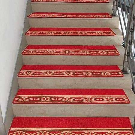 Alfombras de escalera YANFEI, Alfombra Engrosada para escaleras, escalones para escalones Alfombrilla Antideslizante Estera de Goma de Gran tamaño sin Fuerza de adsorción, Juego de 5 (150 * 30 cm): Amazon.es: Hogar