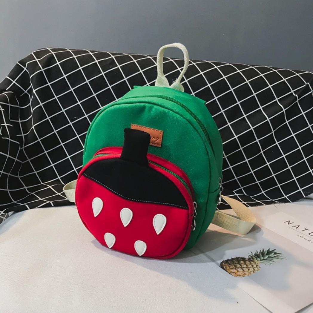 Green Malbaba Cartoon Strawberry Cute Animal Baby Children Toddler School Bag Backpack Shoulder Bag