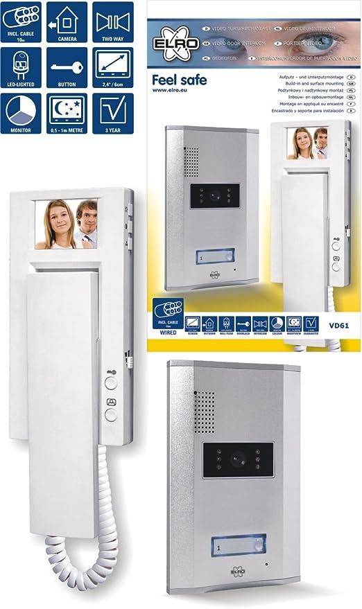 ELRO Videoanlage Sprechanlage zusätzliche Innenstation VD60 SW VD61-VD62-VD64