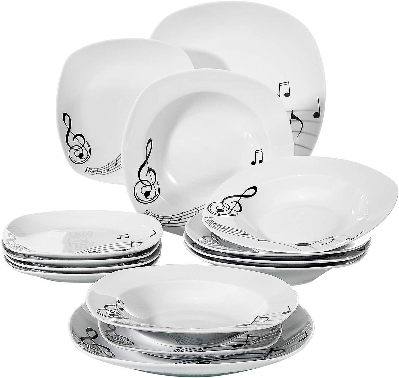 Juegos de Vajillas 18 Piezas de Porcelana