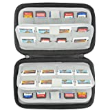Sisma 72 in 1 Game Cartridges Holder Organiser Hard Carrying Case for Nintendo Switch 3DS 2DS Sony Ps Vita Games SD microSD Memory Cards, Black SVG180901GC-B
