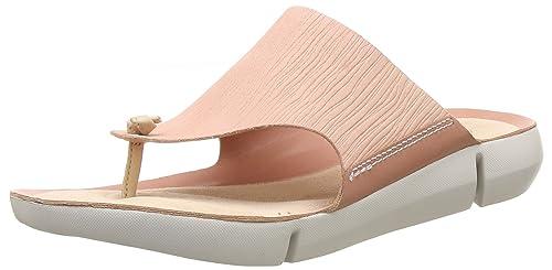 12dfed9e2c0 Clarks Tri Carmen Leather Sandals in Metallic Standard Fit Size 3 Grey
