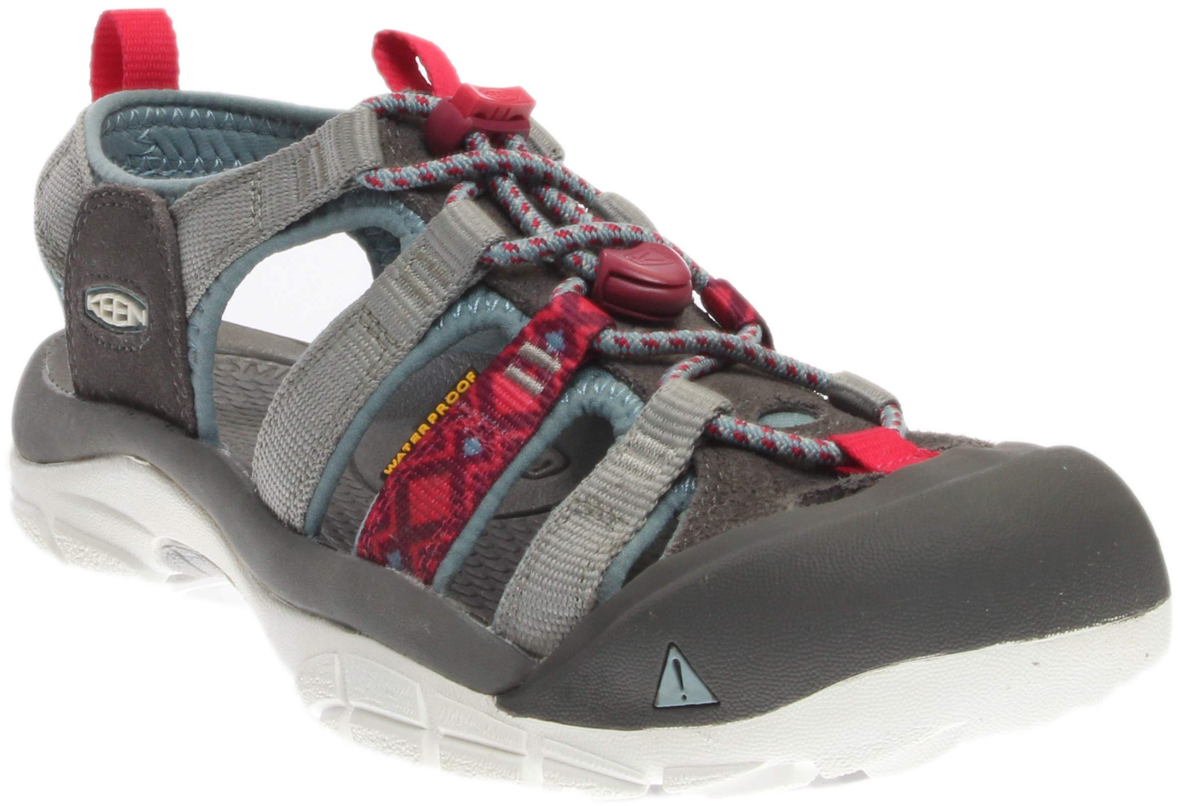 KEEN Women's Newport Evo H2 Hiking Shoe, Neutral Gray/Raspberry, 9 M US