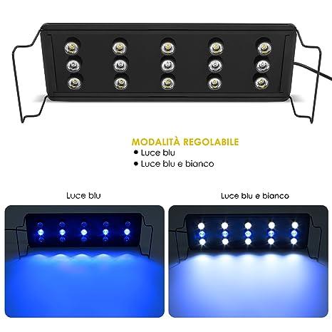 Deckey Luces de Acuarios y Peceras Lámpara LED para Plantas y Estanques LED Longititud Ajustable con