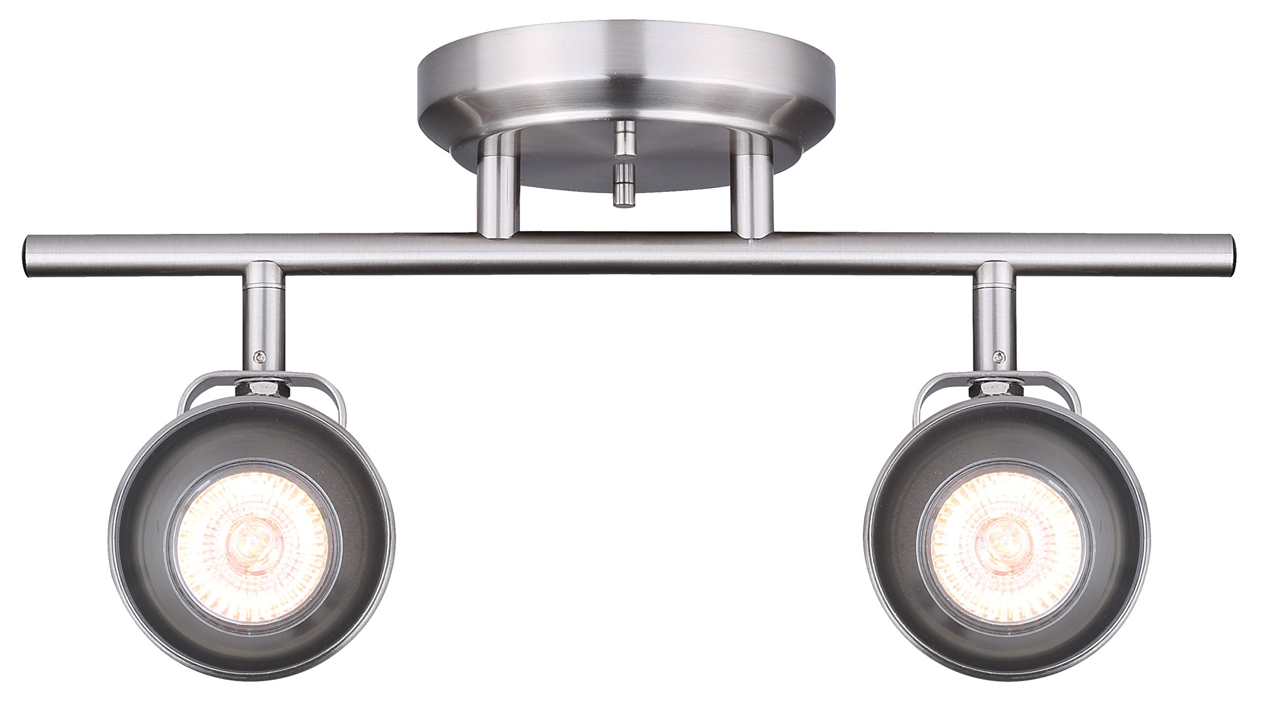 CANARM IT622A02BN10 Ltd Polo 2 Light Track Rail Adjustable Heads, Brushed Nickel